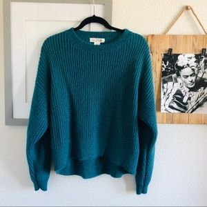 H&M Teal Lose Knit Sweater